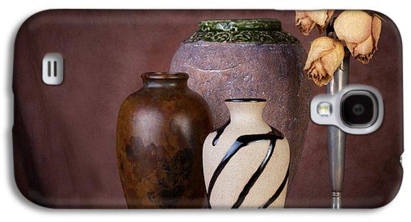 Vase And Roses Still Life Galaxy S4 Case by Tom Mc Nemar