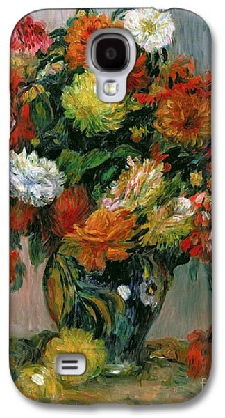 Botanical Galaxy S4 Cases - Vase of Flowers Galaxy S4 Case by Pierre Auguste Renoir
