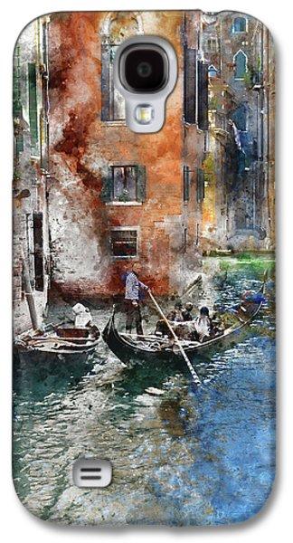 Venetian Gondolier In Venice Italy Galaxy S4 Case