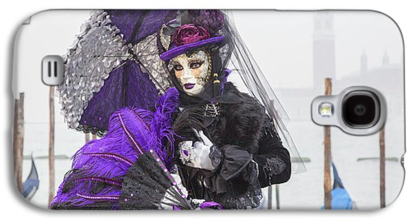 Venetian Lady In Purple Galaxy S4 Case