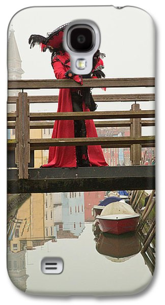 Venetian Lady On Bridge In Burano Galaxy S4 Case