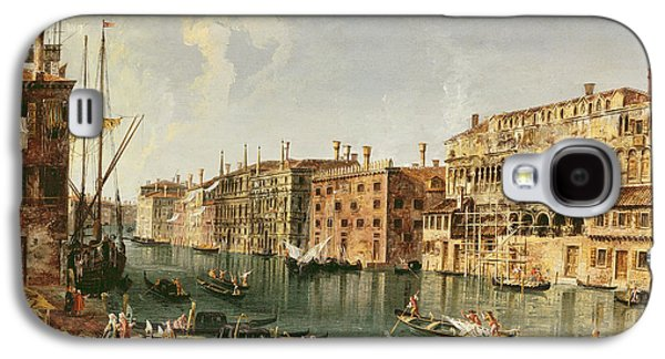 Venice, Grand Canal And The Fondaco Dei Turchi  Galaxy S4 Case by Michele Marieschi