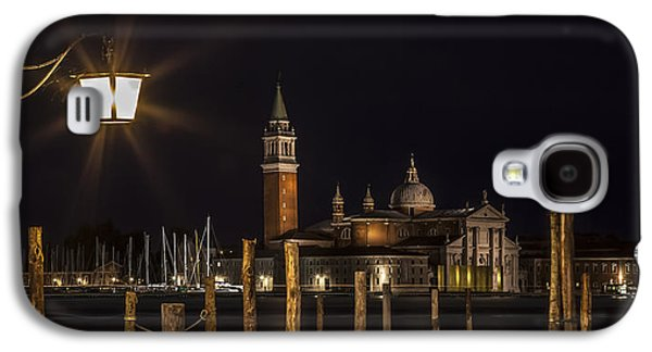 Venice San Giorgio Maggiore At Night Panoramic View Galaxy S4 Case by Melanie Viola