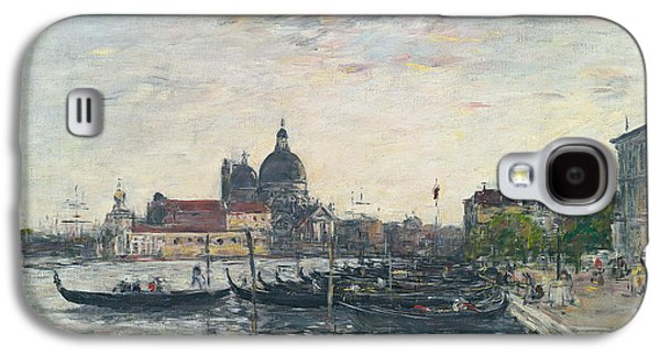 Venice, The Mole At The Entrance To The Grand Canal And The Salute, Evening Galaxy S4 Case by Eugene Louis Boudin