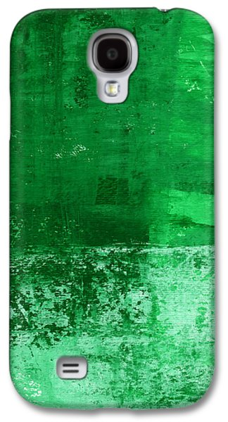 Verde-  Contemporary Abstract Art Galaxy S4 Case by Linda Woods