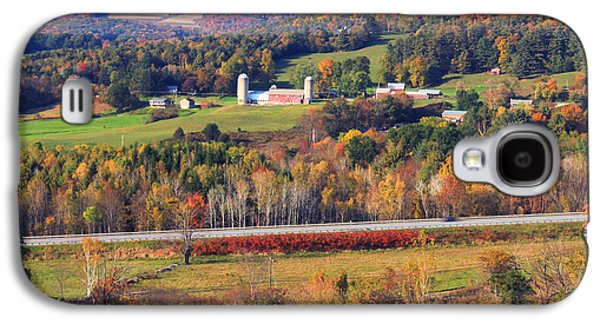 Autumn Foliage Galaxy S4 Cases - Vermont Countryside View Pownal Galaxy S4 Case by John Burk