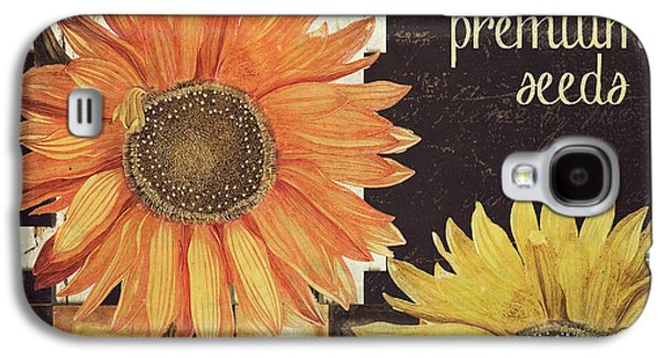 Vermont Farms Sunflowers Galaxy S4 Case by Mindy Sommers