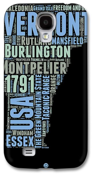 Vermont Word Cloud 1 Galaxy S4 Case by Naxart Studio