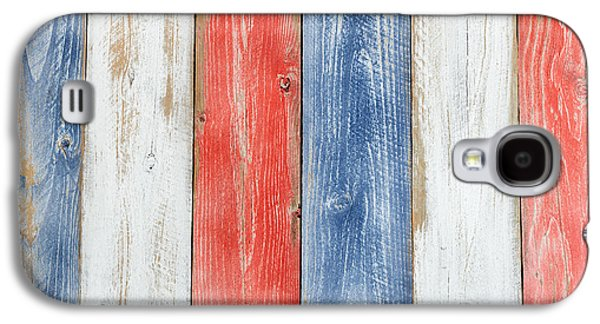 Vertical Stressed Boards Painted In Usa National Colors Galaxy S4 Case by Thomas Baker