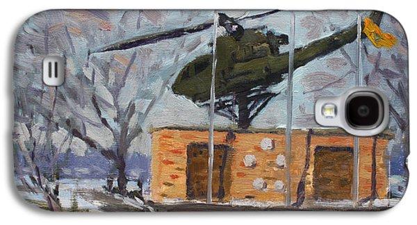Helicopter Galaxy S4 Case - Veterans Memorial Park In Tonawanda by Ylli Haruni