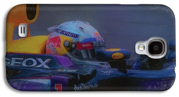 Vettel And Redbull Galaxy S4 Case by Marvin Spates