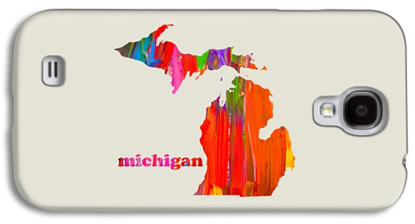 Michigan State Galaxy S4 Case - Vibrant Colorful Michigan State Map Painting by Design Turnpike