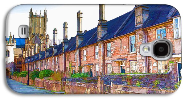 Vicars Close Next To Wells Cathedral Somerset England With Wells Cathedral In The Background Galaxy S4 Case by Michael Charles