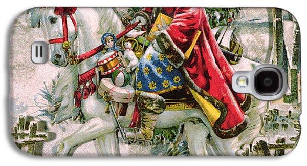 Victorian Christmas Card Depicting Saint Nicholas Galaxy S4 Case by English School
