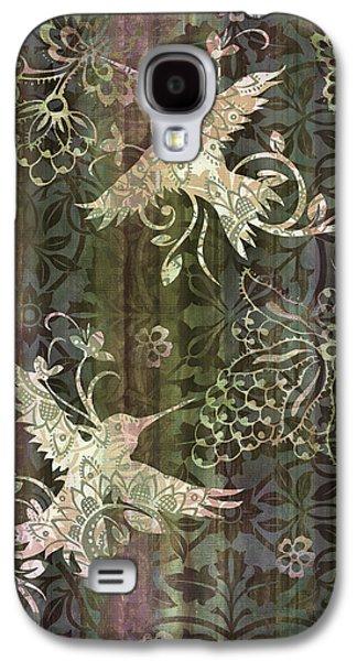 Victorian Hummingbird Green Galaxy S4 Case by JQ Licensing