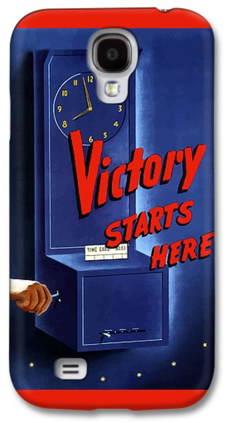 Victory Starts Here Galaxy S4 Case by War Is Hell Store