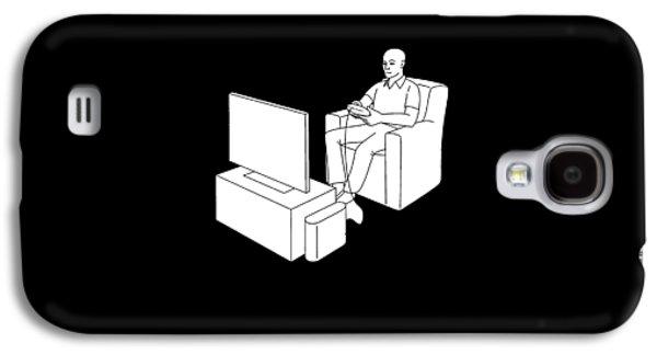 Video Gamer Tee Galaxy S4 Case by Edward Fielding