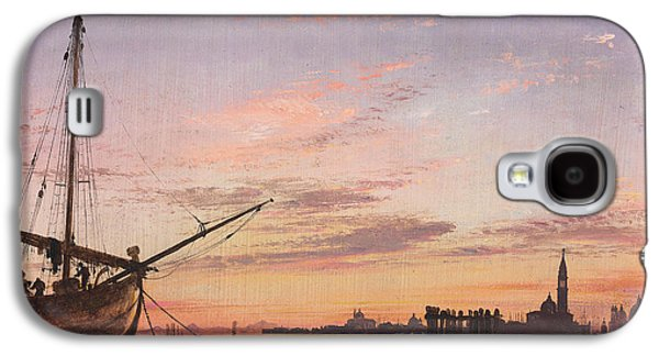 View Across The Lagoon, Venice, Sunset Galaxy S4 Case by Edward William Cooke