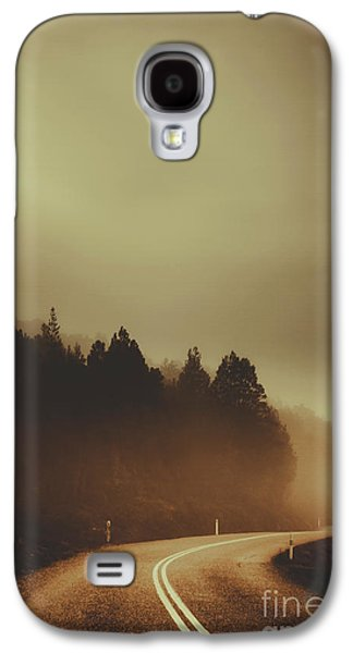 View Of Abandoned Country Road In Foggy Forest Galaxy S4 Case
