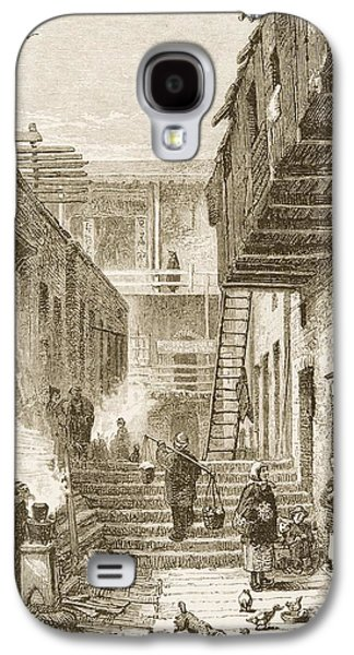 View Of Chinatown In San Francisco Galaxy S4 Case by Vintage Design Pics