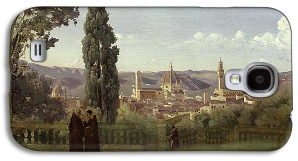 View Of Florence From The Boboli Gardens Galaxy S4 Case by Jean Baptiste Camille Corot