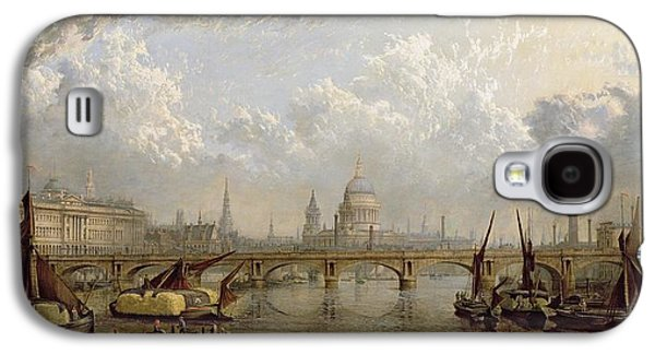 View Of London  Galaxy S4 Case by John MacVicar Anderson
