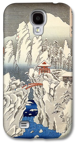 View Of Mount Haruna In The Snow Galaxy S4 Case by Hiroshige