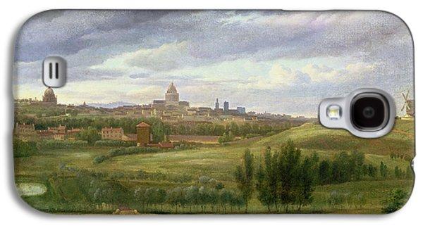 View Of Paris From Butte Aux Cailles Galaxy S4 Case by Jean Baptiste Gabriel Langlace