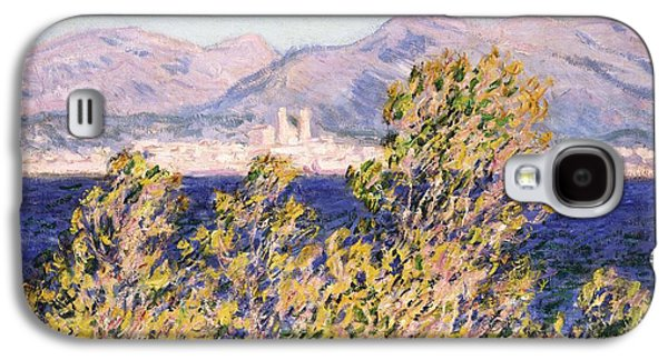 View Of The Cap Dantibes With The Mistral Blowing Galaxy S4 Case by Claude Monet