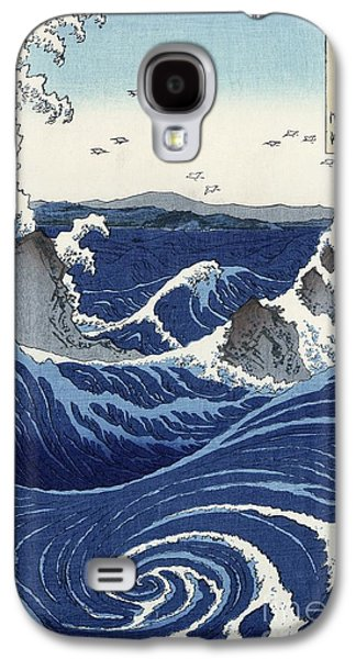 View Of The Naruto Whirlpools At Awa Galaxy S4 Case by Hiroshige