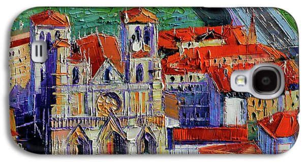 View Over Cathedral Saint Jean Lyon Galaxy S4 Case by Mona Edulesco