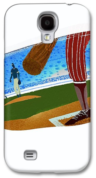 View Over Home Plate In Baseball Stadium Galaxy S4 Case by Gillham Studios