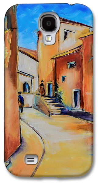 Village Street In Tuscany Galaxy S4 Case by Elise Palmigiani