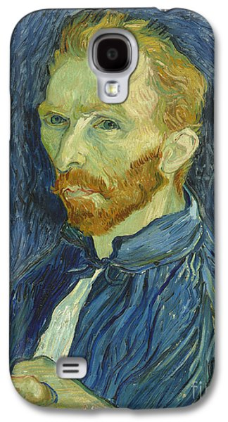 Vincent Van Gogh Self-portrait 1889 Galaxy S4 Case by Edward Fielding