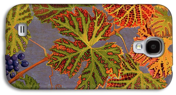 Vine Leaves And Ripened Grapes Galaxy S4 Case by Philippe Robert