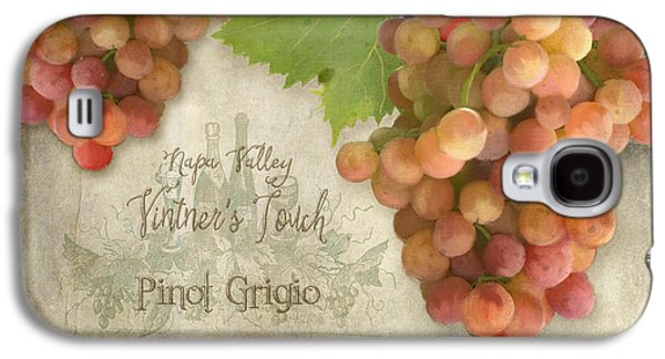 Vineyard - Napa Valley Vintner's Touch Pinot Grigio Grapes  Galaxy S4 Case by Audrey Jeanne Roberts