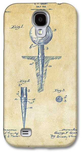 Sport Digital Galaxy S4 Cases - Vintage 1899 Golf Tee Patent Artwork Galaxy S4 Case by Nikki Marie Smith