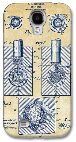 Vintage 1902 Golf Ball Patent Artwork Galaxy S4 Case by Nikki Marie Smith