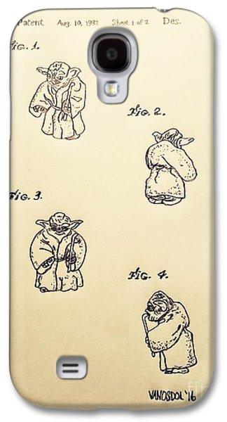 Vintage 1982 Star Wars Yoda Patent - Aged Galaxy S4 Case