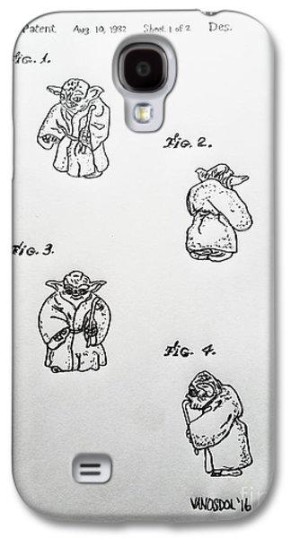 Vintage 1982 Star Wars Yoda Patent - Original Galaxy S4 Case