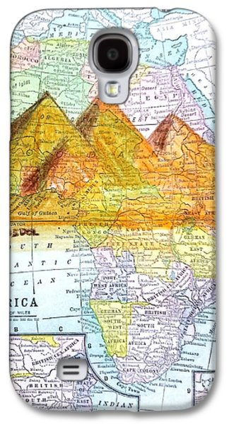 Vintage African Map Galaxy S4 Case
