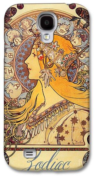 Vintage Art Nouveau Zodiac Galaxy S4 Case by Mindy Sommers