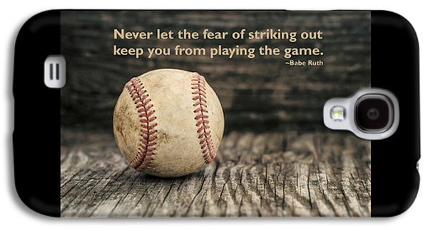 Vintage Baseball Babe Ruth Quote Galaxy S4 Case by Terry DeLuco