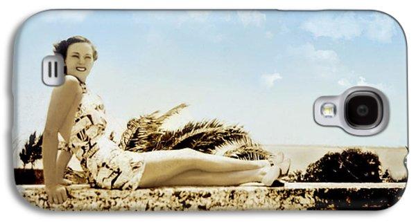 Vintage Beach Beauty Galaxy S4 Case by Susan Leggett