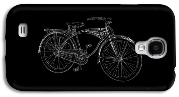 Vintage Bicycle Tee Galaxy S4 Case by Edward Fielding