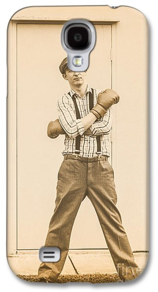 Vintage Boxer Ready For Action Galaxy S4 Case