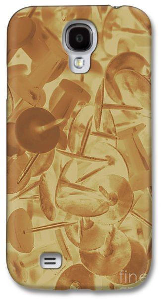 Vintage Business Pins Art Galaxy S4 Case by Jorgo Photography - Wall Art Gallery