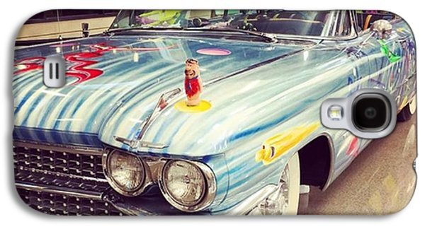 Classic Galaxy S4 Case - Vintage Car At The Mobile Airport #car by Joan McCool