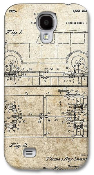 Vintage Car Jack Patent  Galaxy S4 Case by Dan Sproul