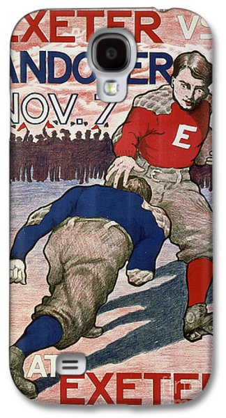 Vintage College Football Exeter Andover Galaxy S4 Case by Edward Fielding